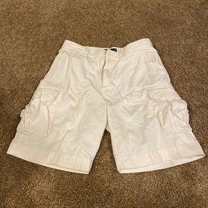 Polo Ralph Lauren white cargo shorts 34W